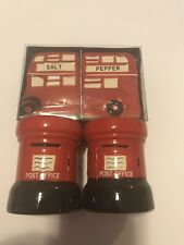 English London Bus Salt And Pepper Shaker And Mailbox Egg Cups