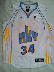 VINTAGE ADIDAS CHICAGO SKY #34 SYLVIA FOWLES BASKETBALL JERSEY SIZE M