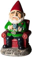 """""""An Offer He Cant Refuse"""" Cheeky Godfather Gangster Garden Gnome Funny Ornament"""