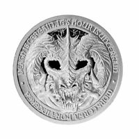 2 OZ THE DESTINY COIN 5 THE DRAGON OF DEATH - Mors Draco - .999 Silver BU Round