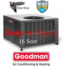 2 Ton 16 seer Goodman HEAT PUMP MULTI POSITION Package Unit GPH1624M41+Heat