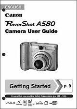 Canon Powershot A580  Digital Camera User Guide Instruction  Manual