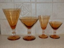 Bryce Glassware 737 Amber 4 Piece Setting Excellent!