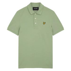 Lyle & Scott Mens Plain Polo Shirt Fern Green