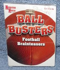 BALL BUSTERS FOOTBALL BRAINTEASERS AGES 8+
