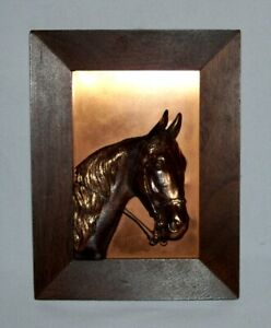 METAL CORP. of AMERICA ~ Vintage Framed 3-D Copper HORSE HEAD, Great Detail