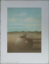 """Walter Heckmann: """"Kürbis"""" , Farblithographie, signiert,  1979, signiert"""