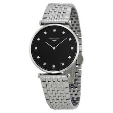 Longines La Grande Classique Diamond Black Dial Mens Watch L4.709.4.58.6