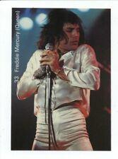 1970s Pop Stars Freddy Mercury (Queen) #33 Rock N Roll Music Trade Card Rare