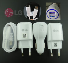 OEM For LG G5 G6 V20 Rapid Travel Adapter LED Fast Dual Car Charger TypeC Cable