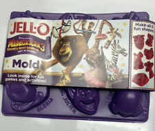 NEW JELL-O MADAGASCAR 3 EUROPE'S MOST WANTED MOLD 6 FUN SHAPES JELLO 2012
