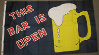 3X5 THIS BAR IS OPEN FLAG BEER BANNER 3'X5' NEW F423