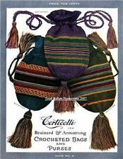 1917 Corticelli # 4 Crocheted Bags & Purses  on CD