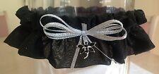 Bridal Garter - Black With Sparkles (Australian Made)
