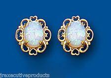 Opal earrings Opal Studs Opal Heart Earrings Yellow Gold Opal Earrings