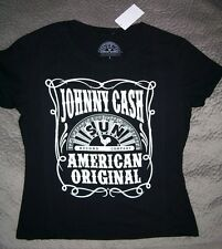Johnny Cash Sun Records Tee Shirt_ Women's Junior Large_ New with tags_ Licensed