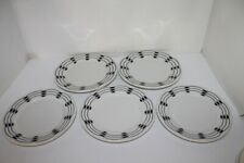 VTG Black & White Warwick Restaurant Ware Salad or Dessert Plates - Choice - EUC