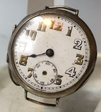 Rare WW1 Trench Watch  George Stockwell Importers Swiss Sterling Silver Case