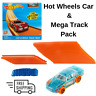 Hot Wheels Car & Mega Track Builder Pack Includes 40 Feet of Straight Tracks NEW