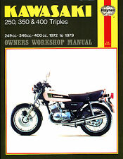 Haynes Manual 0134 - Kawasaki 250, 350 & 400 Triples (72 - 79) workshop/service