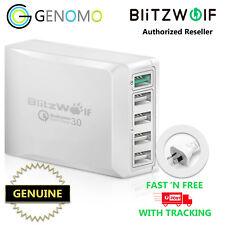 Genuine BlitzWolf Bw-s7 Qc3.0 40w Smart 5-ports High Speed Desktop USB Charger