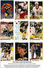 1990-91 UD Upper Deck Boston Bruins Complete Team Set (27)