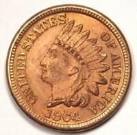 1864 Indian Cent Penny 1C - Uncirculated Details (UNC MS) - Rare Coin!