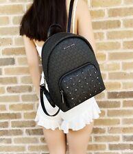 Michael Kors Erin Studded Medium Abbey Backpack Black MK Signature Leather