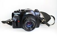 "ZENIT-312 EXPORT Edition RARE USSR SLR film camera w/s lens ""MC Zenitar M2S"""