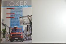 """VW Volkswagen T3 Bus Westfalia """"Joker"""" Prospekt 1988 - Niederlande"""