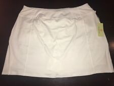 New Tangerine Women's Large White Active Skort with Perforated Trim Athleisre