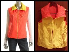 $169 Ralph Lauren Orange Yellow Reversible Outerwear Vest ~ M M3020