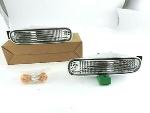 NEW Chrome Bumper Turn Signal Lights Lamp For 1994-1995-1996 NISSAN S14 JDM Only