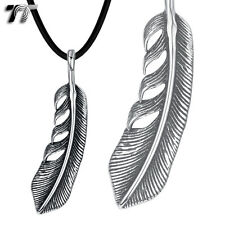 TT 316 Stainless Steel Feather Pendant Necklace (NP309) NEW Arrival