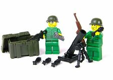 US Army WW2 Green Mortar Team Soldier made with real LEGO®