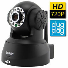 TENVIS HD Wireless IP Security Camera Motion Detection Night Vision 2-Way Audio