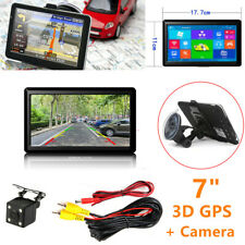 "7"" Car HD 3D GPS Navigation Windows CE System + Rearview Backup Camera Bluetooth"