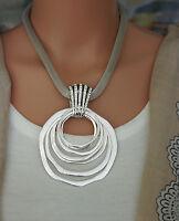 Bettelkette Statement Halskette Modeschmuck Kette Silber Collier Strass