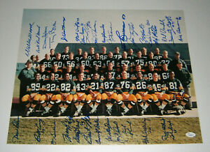 1966 PACKERS SB I team signed 16x20 photo 33 AUTOS Bart Starr Taylor Hornung JSA