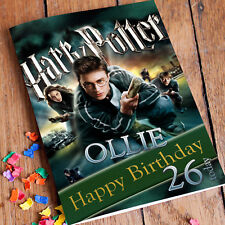 HARRY POTTER **Personalised Birthday Card** Hermione Radcliffe Ron Son Daughter