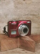 Nikon COOLPIX L25 10.1MP Digital Camera Red, Case, Strap - Used in Ex Condition