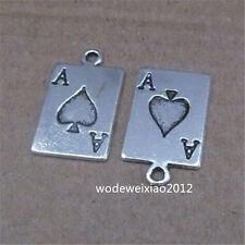 15pc Retro Tibetan Silver Poker Cards Pendant Charms Beads Accessories Jp689