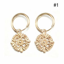 18K Gold Filled Cartilage Hoop Earrings Dangle Drop Pendant Charm Jewelry Gift