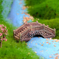 Simulation Brücke Harz Miniatur Figur Fee Garten Dekor Micro Landschaft  R sp