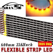 10x Motor LED Flexible Strip Light 60cm Amber High Power 2835 SMD Waterproof 12V