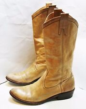 FRYE SHOES CARSON PULL ON BOOTS LIGHT TAN DISTRESSED LEATHER 77685 7.5 $378