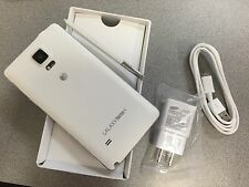 Samsung Galaxy Note 4 SM-N910A - Frost White Unlocked At&t Excellent LCD SHADOW