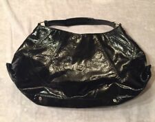 Kenneth Cole New York Shinny Black Tote Carry On Weekend Bag Handbag
