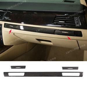 3*Carbon Fiber ABS Co-pilot Cup Holder Trim For BMW 3 Series E90 E92 E93 2005-12