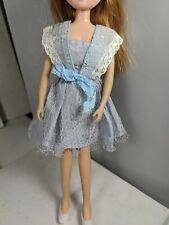 Vintage Doll dress, fits Takara Licca Chan blue lace (no doll)